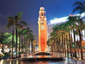 Clock tower in Hong Kong (China)