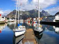 Yachts in Lofoten (Norway)