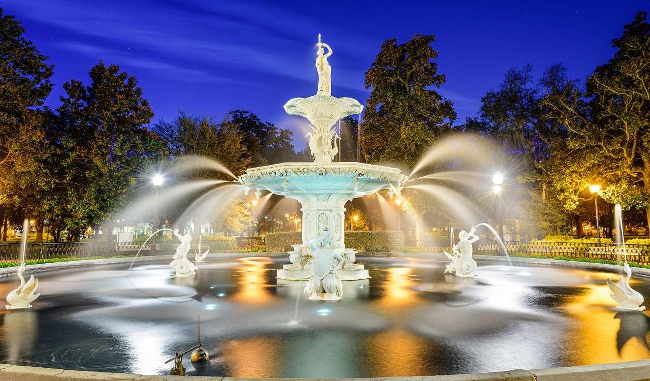 Fountain at Forsyth Park in Savannah (USA)