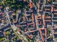 Vista dall'alto di Oleśnica (Polonia)