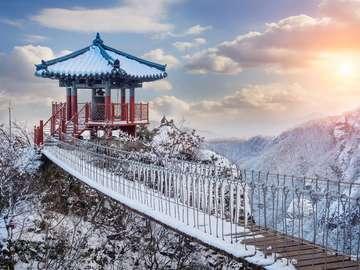 Vantage point at the top of Mount Geumosan (South Korea)