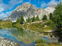 Lagazuoi peak in the Dolomites (Italy)