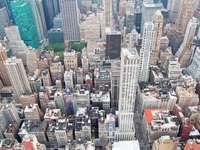 Bird's-eye view of skyscrapers in Manhattan (USA)