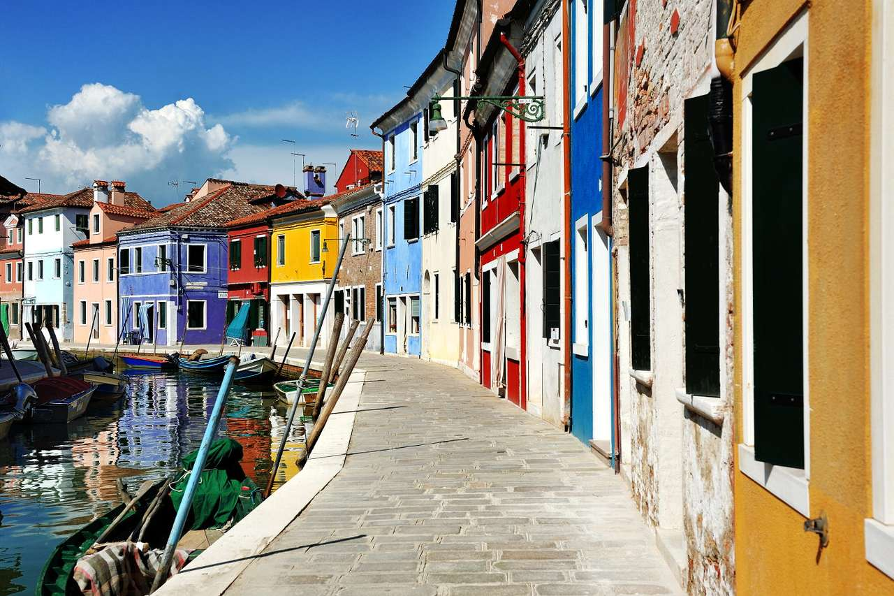 Colorful houses in Burano (Italy)
