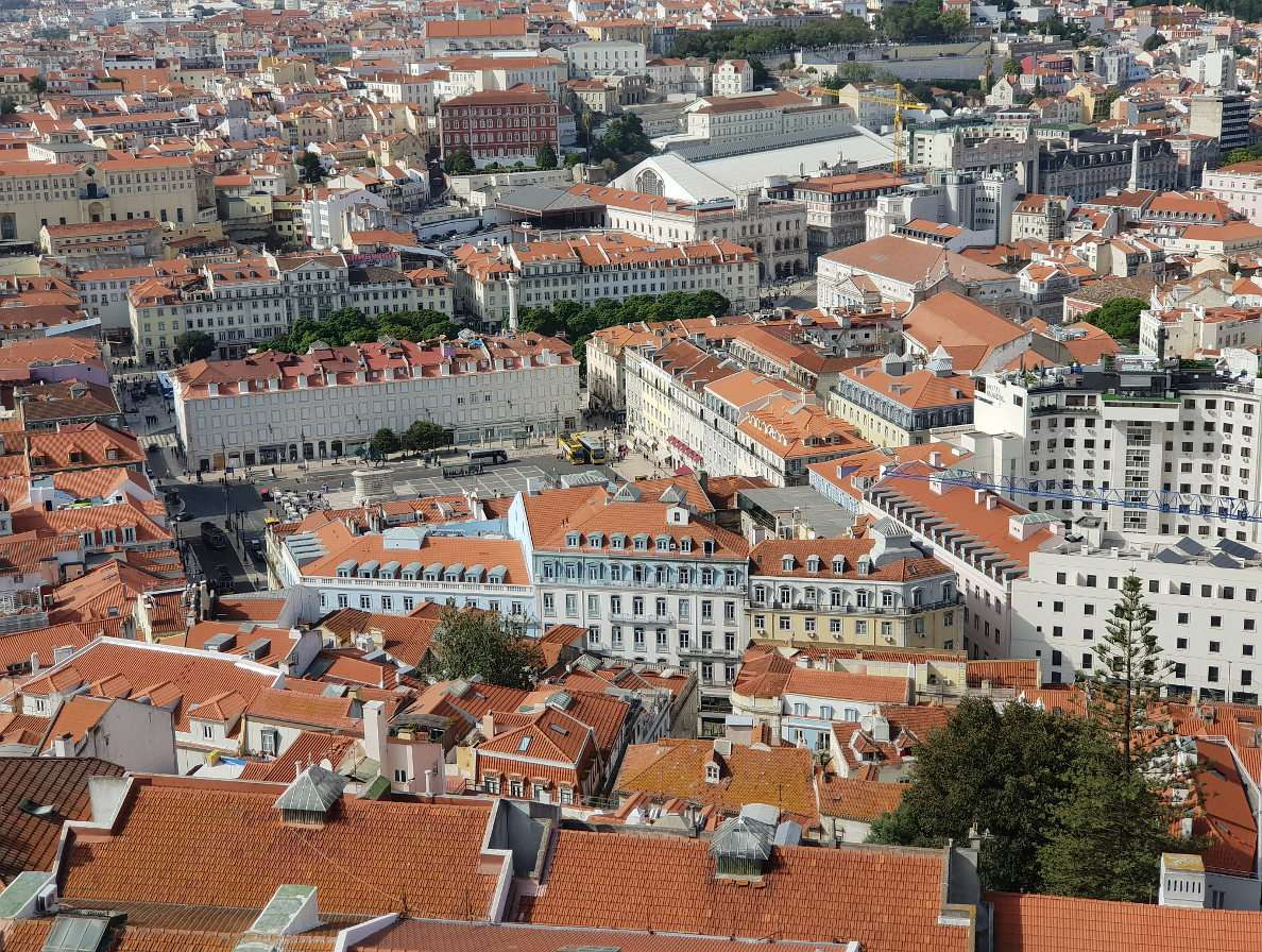 Lisbon seen from the Castle of St. George (Portugal)