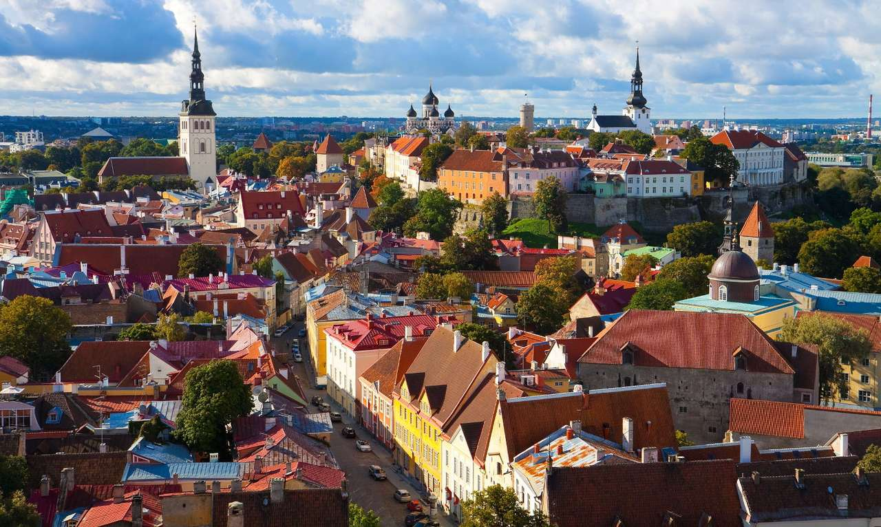 Old Town in Tallinn (Estonia) - Tallinn is a large city located on the Baltic Sea in the northern part of Estonia. In Tallinn there are numerous monuments of sacred architecture, mainly Protestant and Orthodox temples. The Cathedral (14×7)