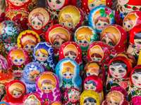Stall with matryoshka dolls in Trakai (Lithuania)