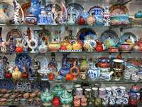 Shop with ceramics in Jerusalem (Israel)