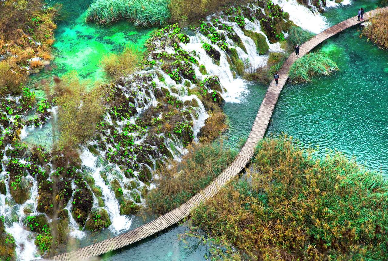 Plitvice Lakes National Park (Croatia) - Plitvice Lakes National Park is located in the central part of Croatia. It owes its name to several karst water reservoirs, which are arranged in cascades, creating a picturesque landscape of dykes, w (13×9)