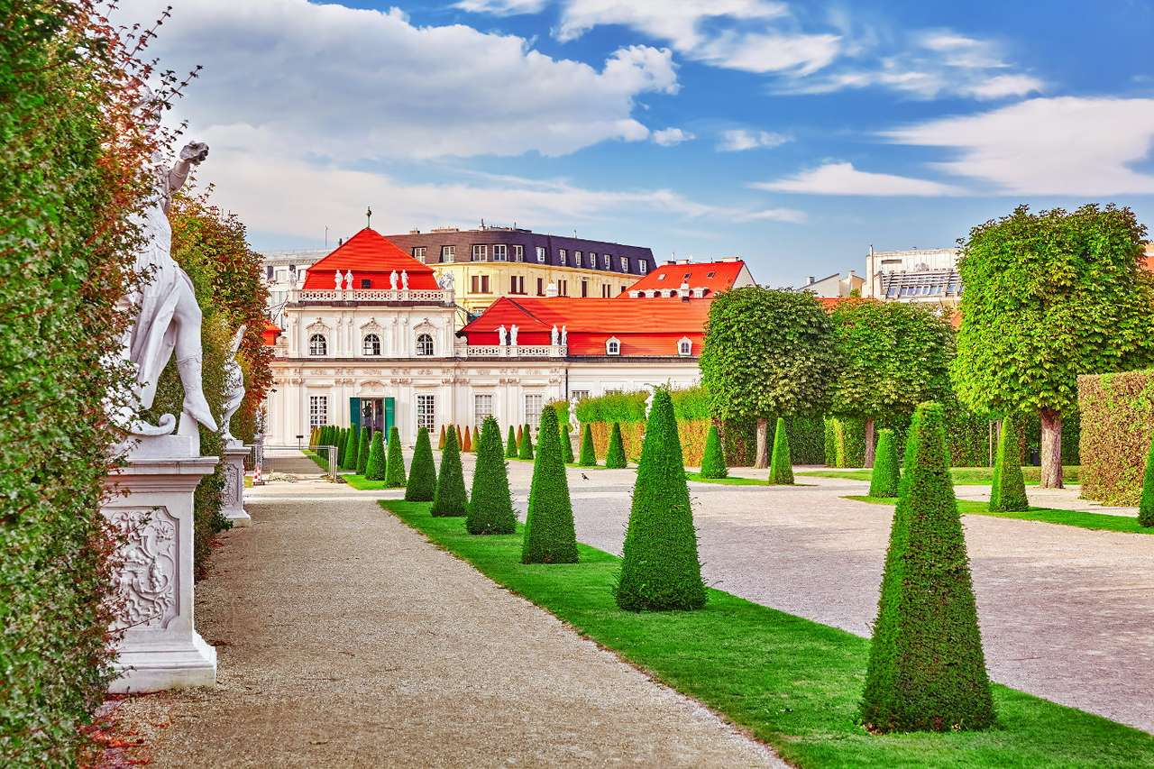 Lower Belvedere in Vienna (Austria) - The Viennese Belvedere is located in the south-east of Vienna. Surrounded by beautiful French-style gardens, there are two Baroque palaces designed by architect Johann Lucas von Hildebrandt. Originall (9×6)