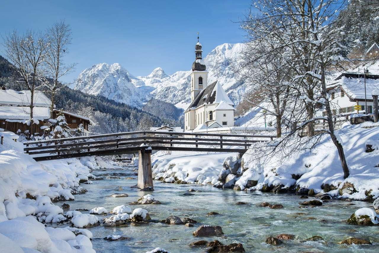 Kostel v Ramsau bei Berchtesgaden (Německo)