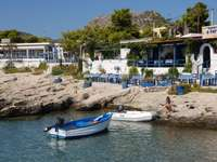 Tavern in Agia Marina on the island of Aegina (Greece)
