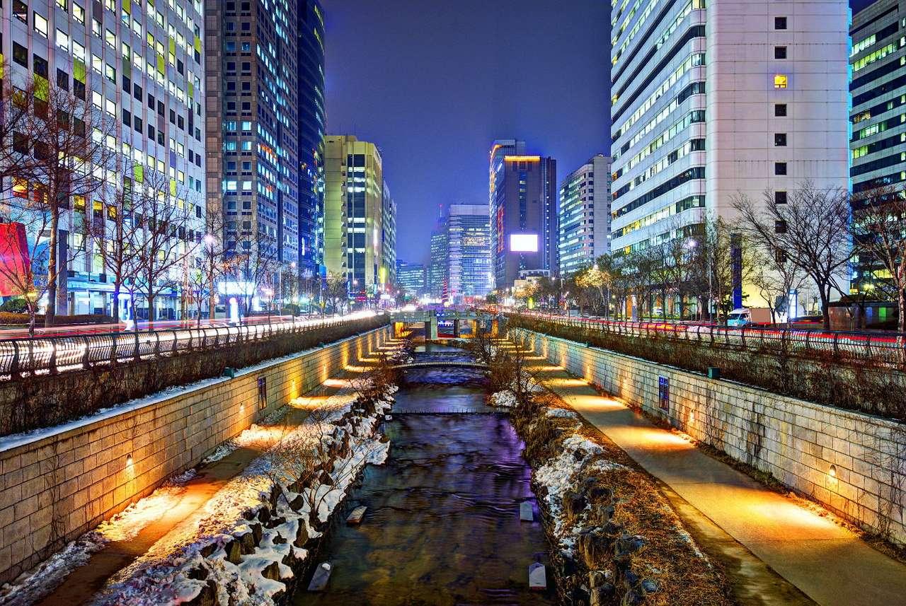 Cheonggyecheon Stream in Seoul (South Korea)