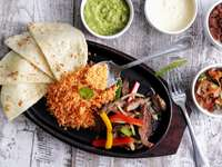 Traditional Mexican fajita