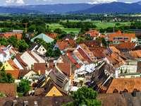 Roofs of houses in Breisach am Rhein (Germany)