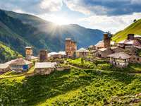 Mountain village of Adishi (Georgia)