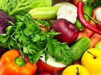Vegetables, fruits and parsley