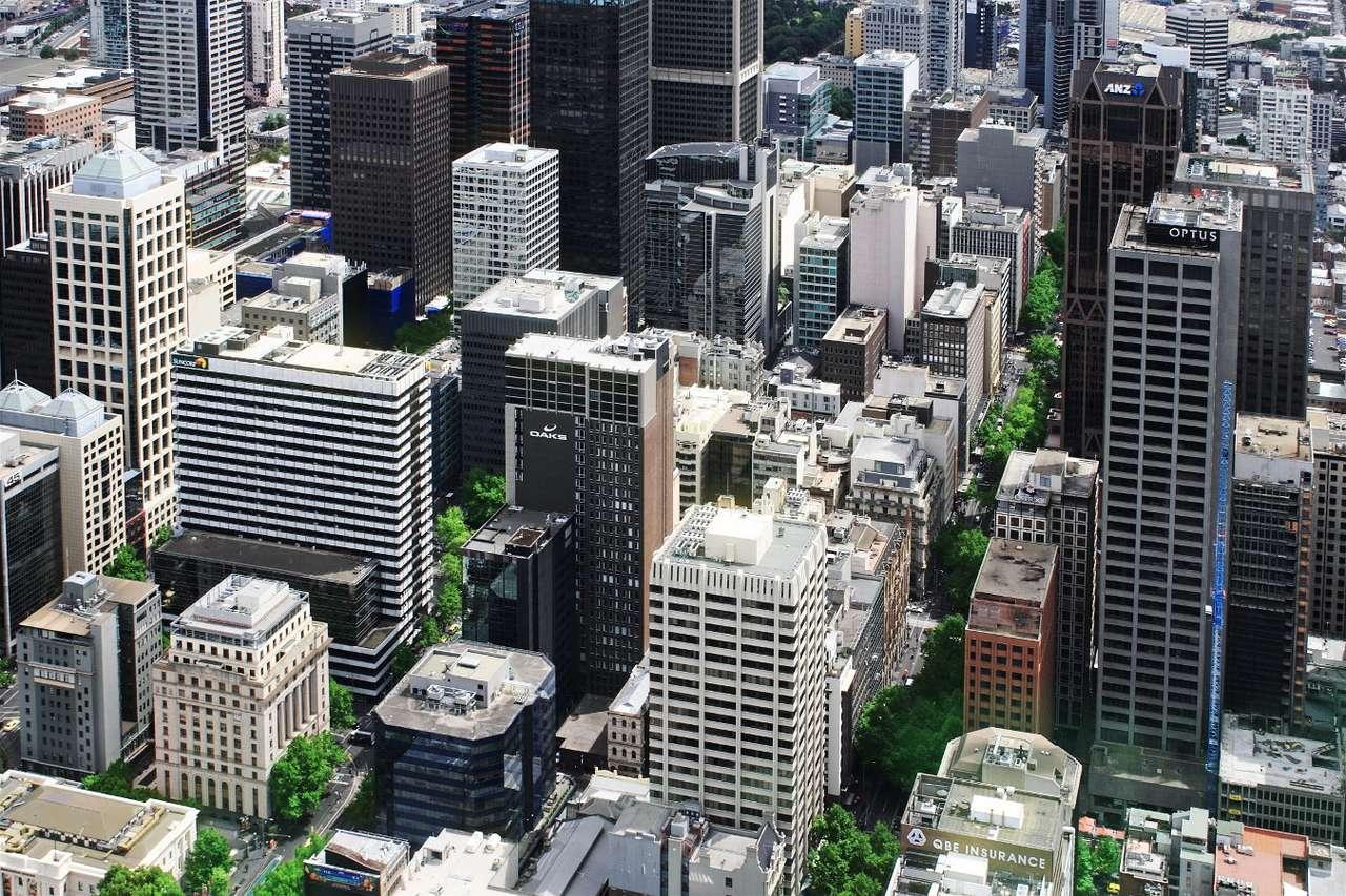 Skyskrapor i Melbourne (Australien) online puzzle
