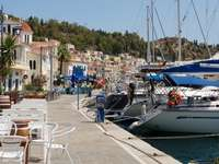 Waterfront of Poros (Greece)