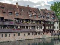 Buildings in the center of Nuremberg (Germany)