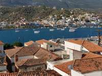 Strait between the towns of Poros and Galatas (Greece)