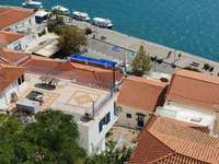Aerial view of Poros (Greece)