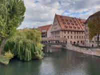 Wooden Hangman's Bridge in Nuremberg (Germany)