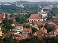 The old town of Vilnius (Lithuania)