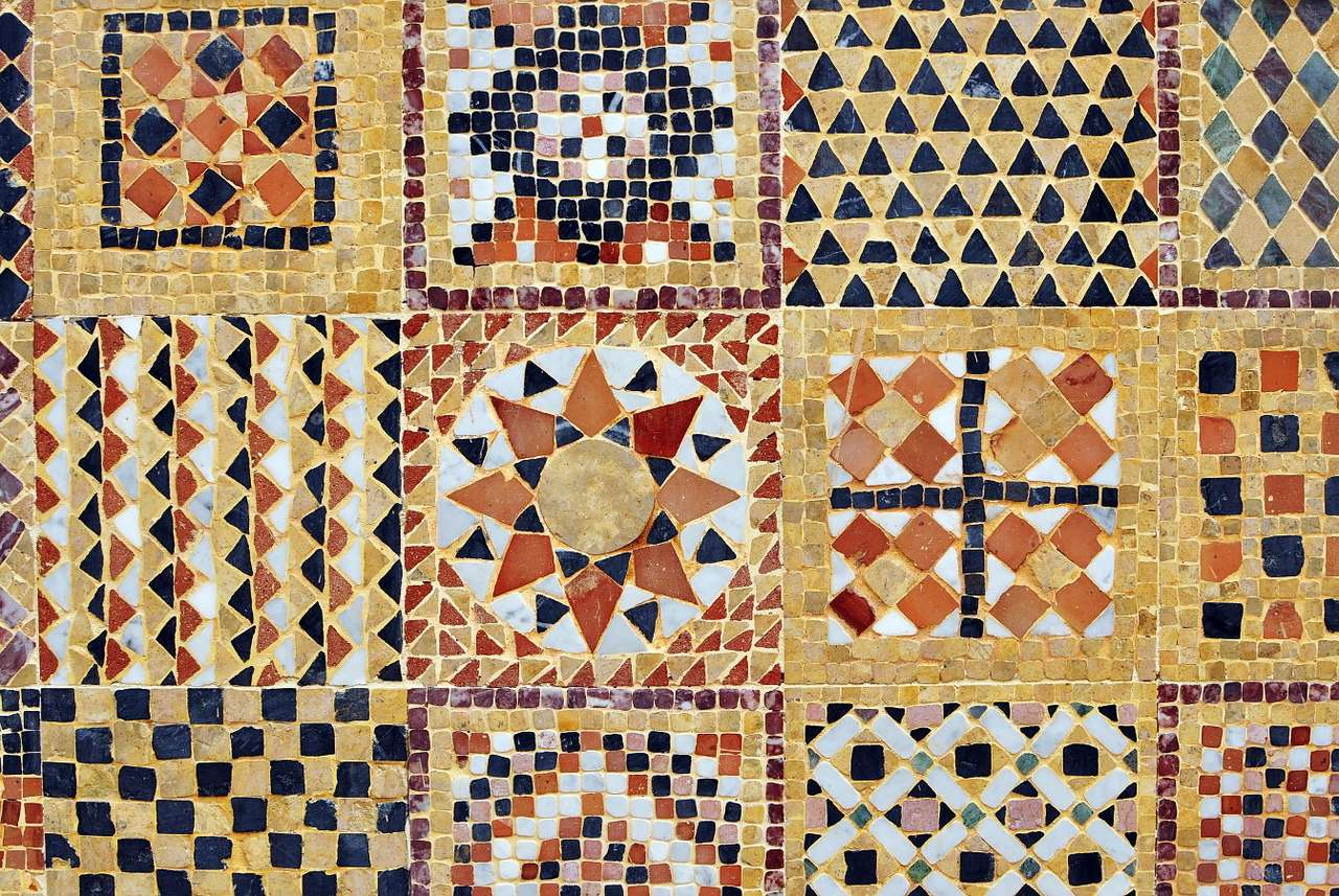 Mosaic from Morocco - Morocco is associated with lavish ornaments, among which intense colors are dominant. Glazed tiles are usually laid in geometric patterns, covering entire walls of buildings and floors. Traditionally, (21×15)