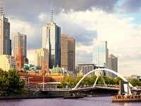 Voetgangersbrug over de Yarra-rivier (Australië)