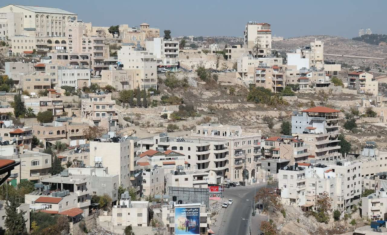 Houses in Bethlehem - Bethlehem is a city located in the western part of Judea, a mountainous area located in Israel. According to the New Testament, Jesus Christ was born in Bethlehem over two thousand years ago. The bigg (11×7)