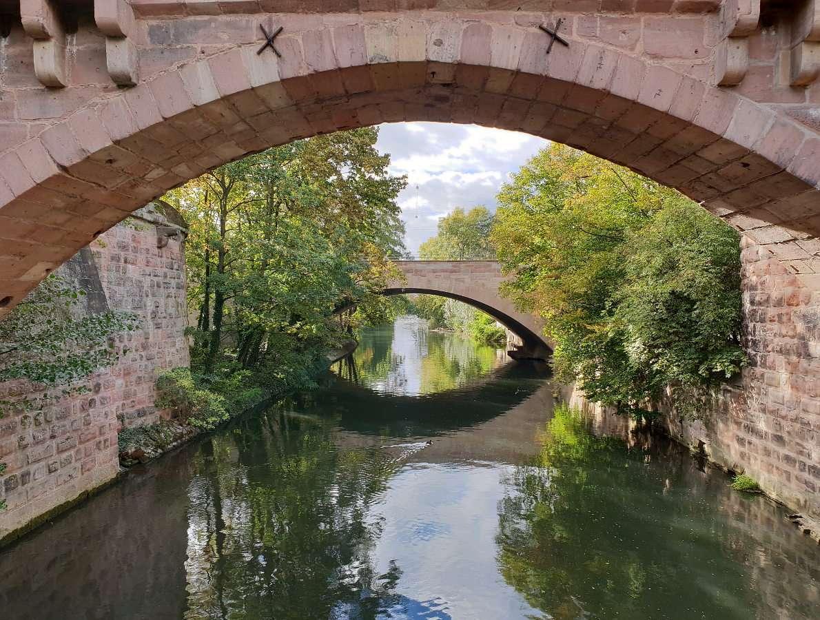 Bridges near the old town of Nuremberg (Germany)