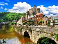 Panorama of Estaing (France)