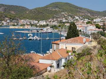 Marina in Poros (Greece)