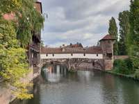 The bridge at Weinstadel in Nuremberg (Germany)