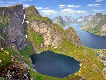 Landscape of the Lofoten Islands (Norway)