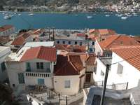 Urban buildings on the island of Poros (Greece)