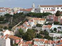 Igreja da Graça church seen from the Castle of St. George in Lisbon (Portugal)