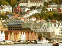 Panorama of the city of Bergen (Norway)