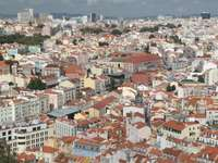 View from the Castle of Saint George in Lisbon (Portugal)