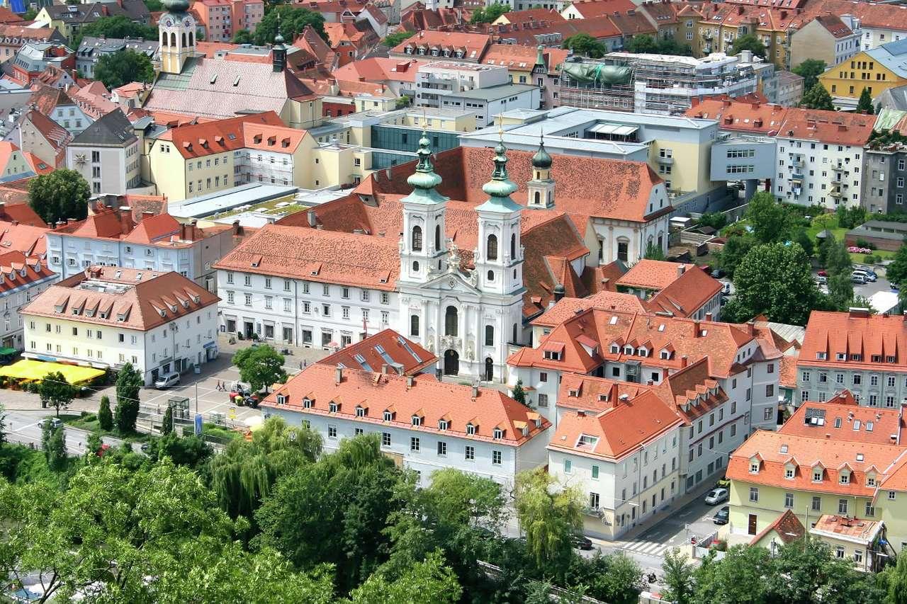 Altstadt in Graz (Österreich) online puzzle