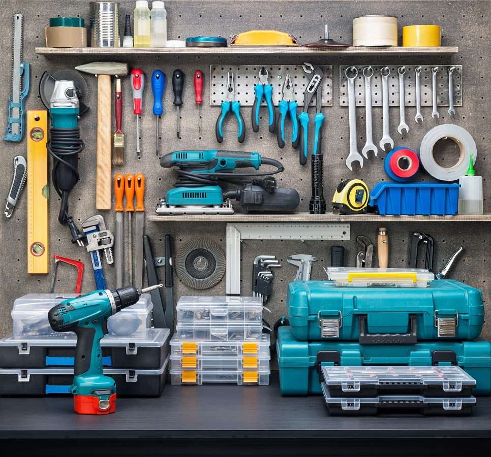 Workshop equipment - Not everyone may afford to invest in a backyard workshop, however, it is worth finding some space in the garage, basement or hall closet for the most essential tool. It is certain that a handyman drea (14×10)