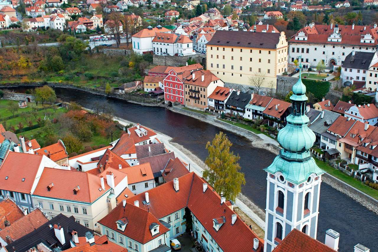 Cesky Krumlov on the Vltava river (Czech Republic) - Cesky Krumlov is located in the south of the Czech Republic, on the picturesquely meandering Vltava River and is the winner of many travel industry awards, including the Golden Apple, called a tourist (15×10)