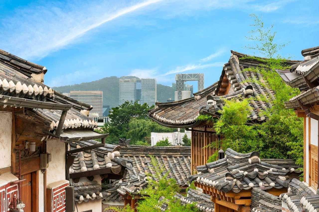 Bukchon Hanok village in Seoul (South Korea)
