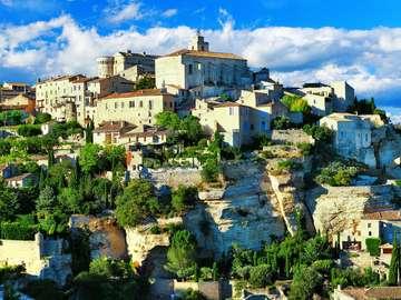 Panorama of Gordes (France)