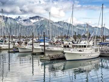 Yacht harbor at Seward (USA)