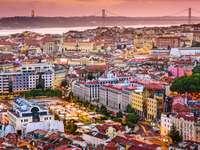 Panorama of Lisbon (Portugal)