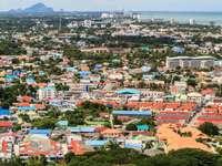 Bird's eye view of the town of Hua Hin (Thailand)