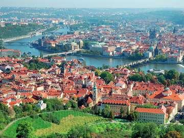 Panorama of Prague (Czech Republic)