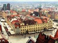 Marktplein in Wrocław (Polen)